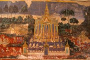 Wall frescoes somehow survived the Khmer Rouge