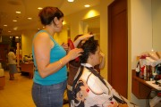 Getting a haircut in the underground city