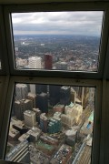 At the top of the CN Tower, at 447m (there is another hundred metres above us but that can't be visited)