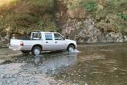 Crossing the little stream