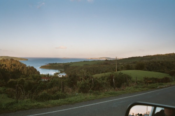 Driving back from the pinguineria to Ancúd