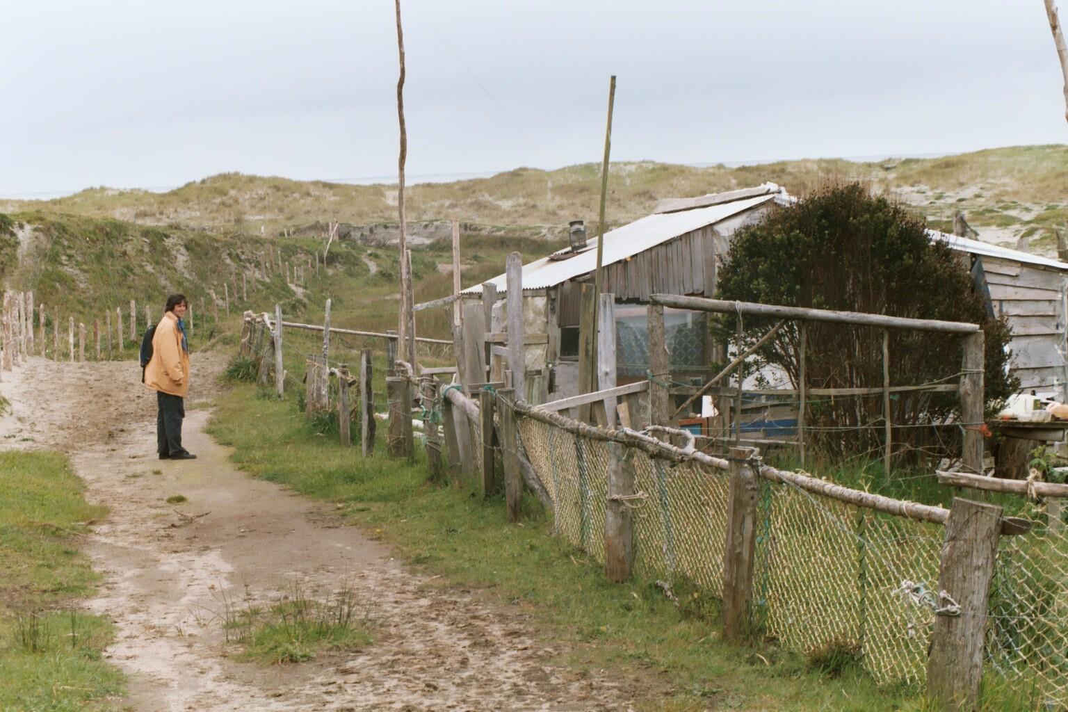 Lonely beach shack