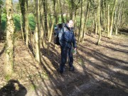 Getting to grips with the backpacks in Woldingham, on a beautiful crisp January day